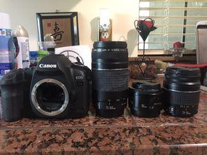 Canon 5D mark ii with 3 lenses for Sale in Atlanta, GA