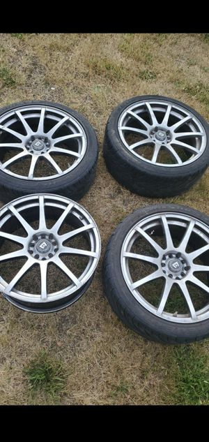 "18"" motegi rims 225/40/18 for Sale in Sumner, WA"