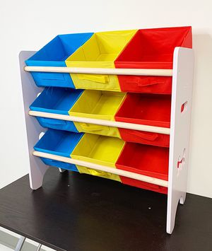 "(NEW) $20 Small Kids Toy Storage Organizer Box Shelf Rack Bedroom w/ 9 Removeable Bin 24""x10""x24"" for Sale in Whittier, CA"