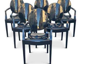 Set Of 6 Ghost chairs in Black for Sale in Los Angeles,  CA