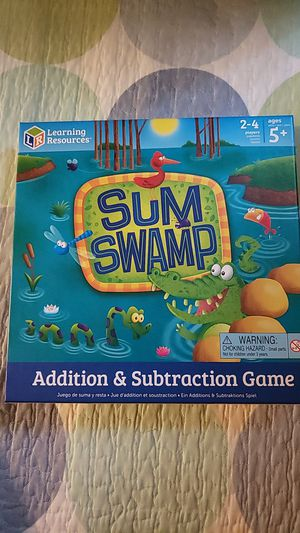 SUM SWAMP Addition and subtraction Game for Sale in Seal Beach, CA