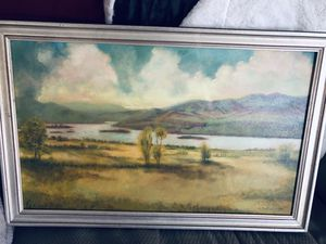 Oil painting on canvas and handmade frame for Sale in Chattanooga, TN