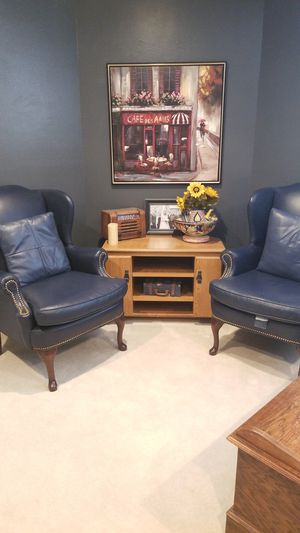 McKinley blue leather chairs for Sale in Centennial, CO
