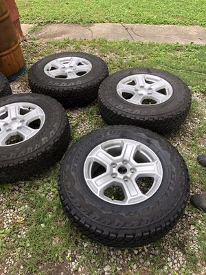 Jeep Wrangler wheels New TIRES!! $800 for Sale in Millstadt, IL