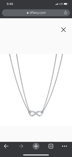 NWOT Tiffany &co infinity dbl necklace $300 retail for Sale in San Antonio, TX