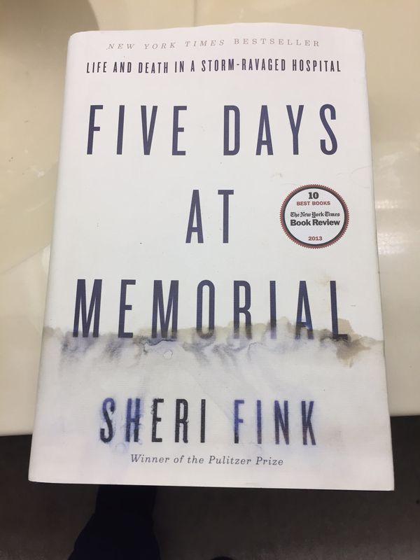 Five Days At Memorial hardback book