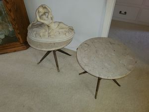 Vintage Marble Pair Round Tables for Sale in Downey, CA