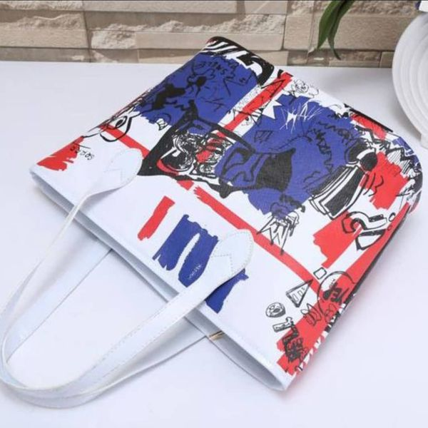 Red white blue purse