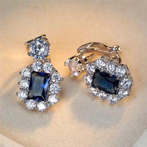 Dark Blue Cute Sparkly Silver Earrings for Sale in Dallas, TX