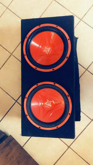 12's subwoofers with box for Sale in Stockton, CA