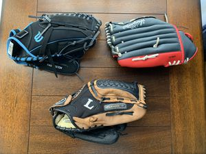 """Baseball gloves - Wilson Fast Pitch Baseball 12"""" Glove A0440TR12CAT Right Throw Black Blue Louisville Slugger Genesis 1884 Genb1200 Series Leather B for Sale in Los Angeles, CA"""