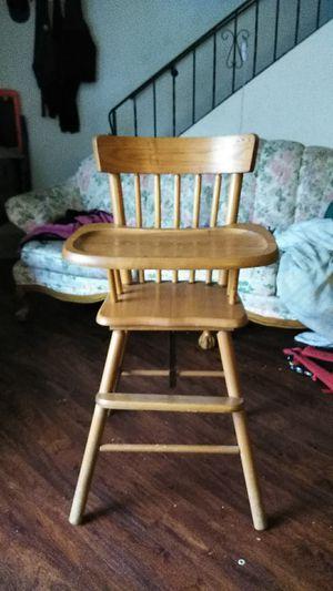 Antique wooden highchair for Sale in Gresham, OR