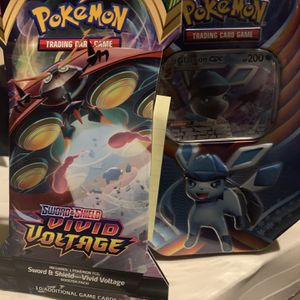 Pokémon GX Tin SEALED Pokemon Trading Card Game featuring Glaceon Plus 1 Vivid Volatge Pack for Sale in Fresno, CA