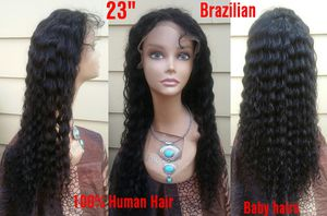 """New 23"""" 100% Human Hair Glueless Deep Wave Curly Lace Front Wig (s7) for Sale in Lanham, MD"""