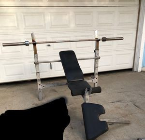 Bench and Barbell for Sale in Modesto, CA