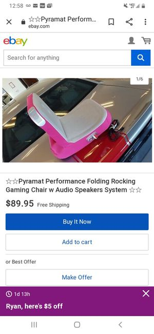 BLACK Pryamat Gaming Chair for Sale in Iowa Park, TX
