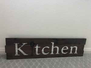 Wood kitchen sign with spoon for Sale in San Diego, CA