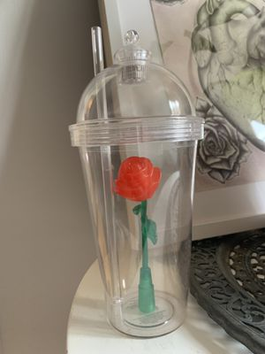 Disney Beauty and the Beast Rose cup for Sale in Montebello, CA