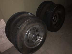 Trailer wheels and tire for Sale in Los Alamitos, CA