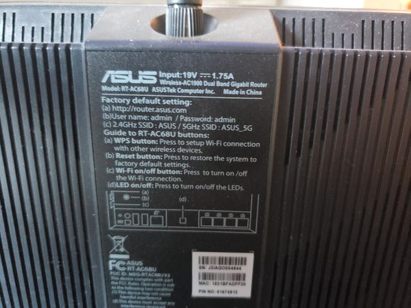 Asus Ac1900 Wireless Router w 2 Range Extenders