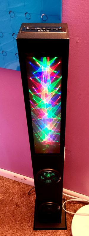 For Sale: Bluetooth LED tower speaker with remote for Sale in Auburn, PA
