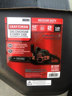 Craftsman 2 cycle 18 inch chainsaw brand new in package never used 150$$$ for Sale in Chula Vista, CA
