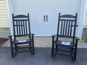 Hinkle chair company black matte finish wood rockers for Sale in Preston, MD