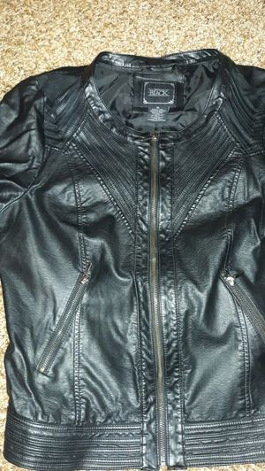 Buckle Black Women's Leather Jacket for Sale in Bronte, TX