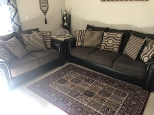 Sofa & coffee table with 2 side tables for Sale in Fairfax, VA