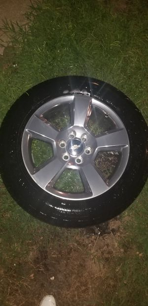 20 in. Chevy Stock Rims with Tires for Sale in Spring, TX