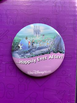 Happily ever after Walt Disney World Cinderella button for Sale in Lake Stevens,  WA