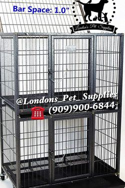 """NEW! 31"""" Two-Tier Heavy-Duty Dog Cage (Kennel) (Crate) for Sale in Colton,  CA"""