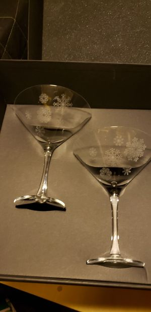 Orrefors Crystal Snow Martini Glasses for Sale in Washington, DC