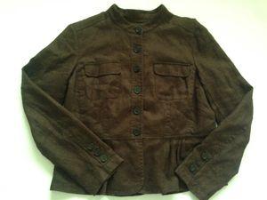 Michael Kors Women's Brown Linen Jacket Blazer for Sale in Columbus, OH