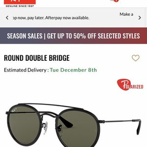 BLACK ROUND DOUBLE BRIDGE Ray Bans for Sale in Santa Clarita, CA