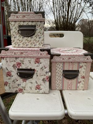 Set of three stacking boxes for Sale in Jetersville, VA