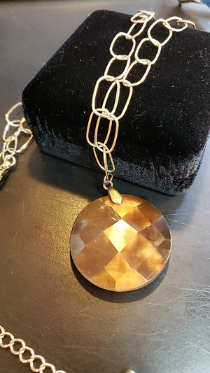 Faceted Golden Brown Moonstone Necklace, RIDICULOUSLY MEZMERIZING, $28.00 for Sale in Bellevue, WA