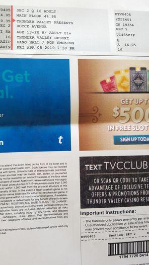 Boyce Avenue tickets for Sale in Modesto, CA