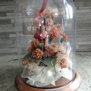 Bridal Bouquet Dried Flower Glass Dome for Sale in Naperville, IL