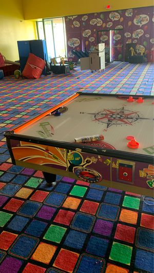 Air hockey table 4 payer basketball stand. for Sale in Springfield Township, NJ