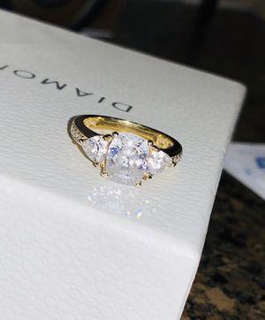 Diamonique 3 Stone Ring SIZE 6 for Sale in Anaheim, CA