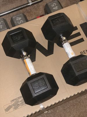 Brand New Set of 35 Lb Dumbbells for Sale in Los Angeles, CA