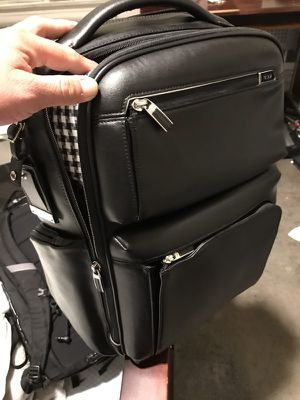 Leather tumi bagpack for Sale in San Francisco, CA