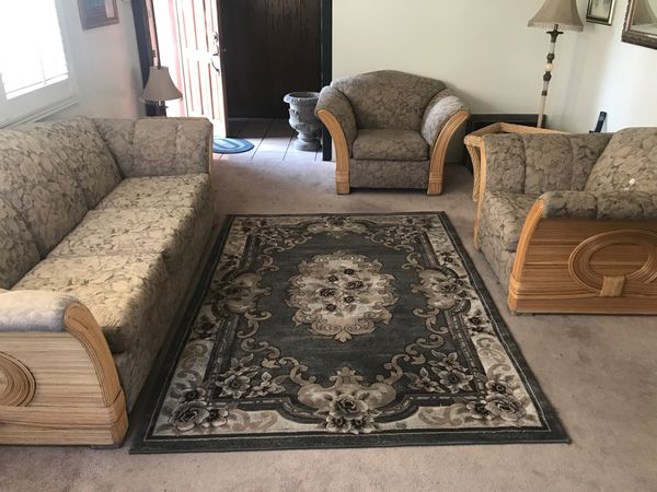 3 furniture pieces, 2 end tables & center tables