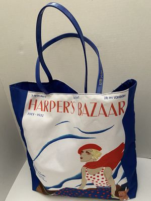Harpers Bazaar Fabric Tote Bag w ShinyStraps NEW! for Sale in Corona, CA