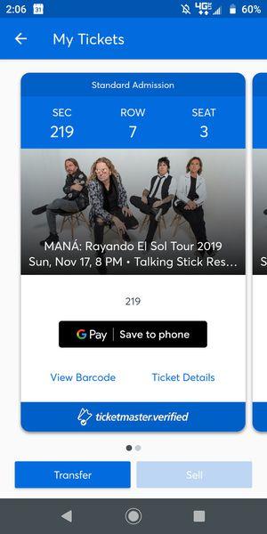 Mana concert tickets for Sale in Phoenix, AZ