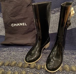 Chanel Camellia Flower Authentic Rain Boots for Sale in Boston, MA