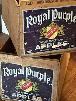 2 Wooden Apple Boxes for Sale in Pawtucket,  RI