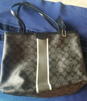 Coach charcoal gray purse for Sale in West McLean, VA