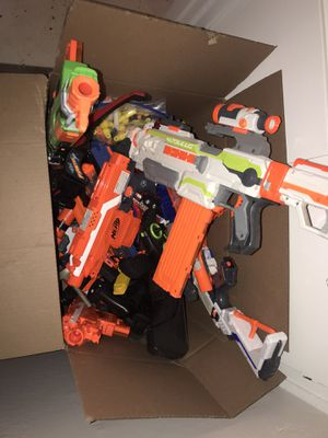 Box of Nerf Guns and Darts for Sale in Rocklin, CA